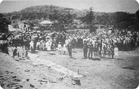 Benção da pedra fundamental da igreja matriz São Pedro (27.10.1929)